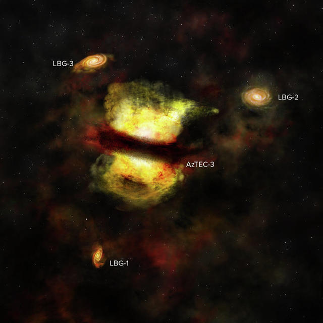 Как се сливат галактики, ама наистина