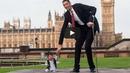 Най-високият и най-ниският мъж в света се срещнаха (ВИДЕО)