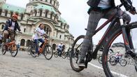 Велосипедисти протестират в София за граждански и екоправа