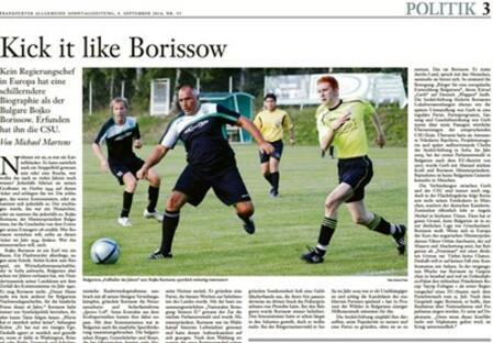 Frankfurter Allgemeine Zeitung: Kick it like Borissow