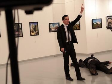 Убиецът на руския посланик в Анкара е охранявал Ердоган