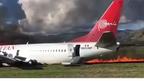 Пътнически самолет се запали в Перу (ВИДЕО)