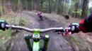 Мечка нападна колоездачи в гората (УНИКАЛНО ВИДЕО)