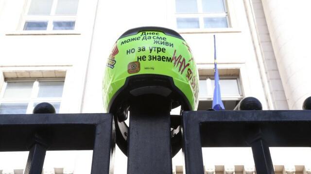 Загинал моторист пак събра братството пред Съдебната палата (СНИМКИ)