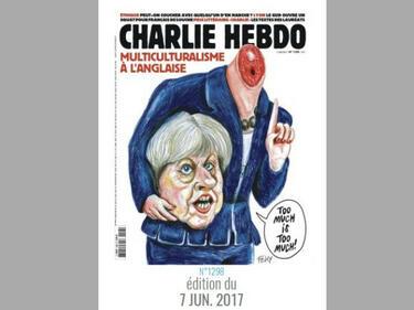 """""""Шарли ебдо"""" отряза главата на Тереза Мей"""