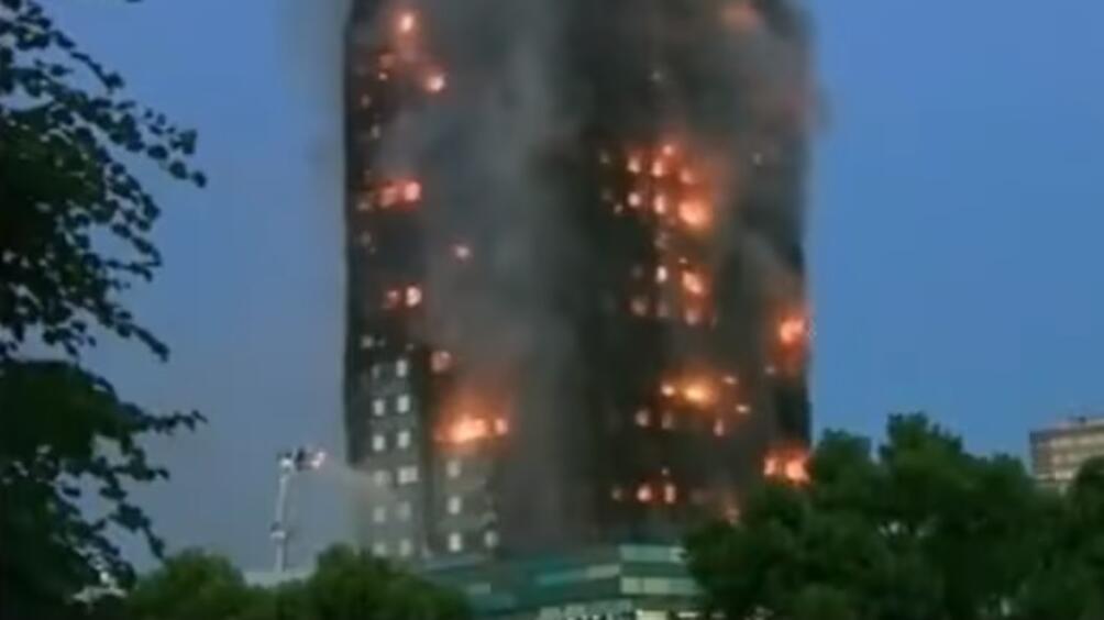 """Десетките жертви и ранени в пожара в жилищната сграда """"Гренфил"""