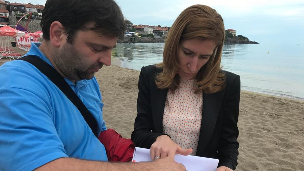 Мобилна група на Министерството на туризма провери днес морски плаж
