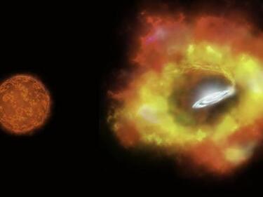 Уникално! Звезда изчезна от Вселената, изроди се в черна дупка (ВИДЕО)
