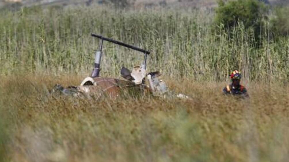 Гръцките власти съобщиха, че малък частен хеликоптер е катастрофирал северно