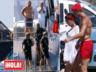 Данъчни и ченгета изненадаха Роналдо на яхтата (СНИМКИ)