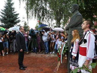 Радев: В думите на Елин Пелин и днес светят багрите на българското съзнание