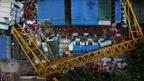 Строителен кран падна в Китай и уби 7 работници (ВИДЕО)