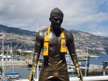 Без майтап! Кристиано Роналдо с шал на Ботев (СНИМКИ)