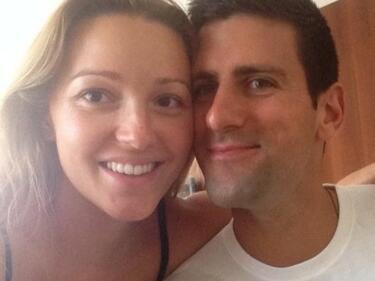 Второ тенис бебе за ден: И Джокович си има и момиченце (СНИМКИ)
