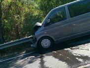 Верижна катастрофа на Е-79, пострада румънец (СНИМКИ)