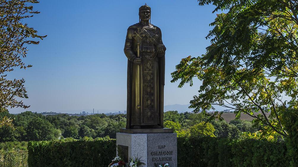 Първият скулптурен монумент на цар Симеон Велики в столицата бе