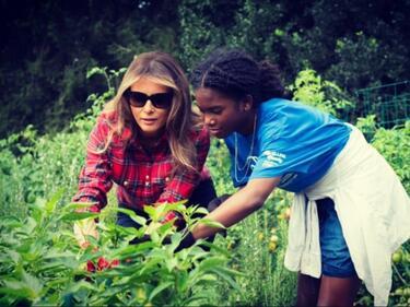 Мелания ще гледа зеленчуци в Белия дом (СНИМКИ)