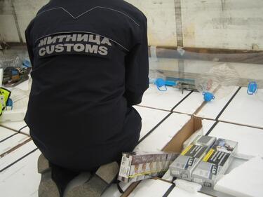 Спипаха над 9 хиляди къса контрабандни цигари