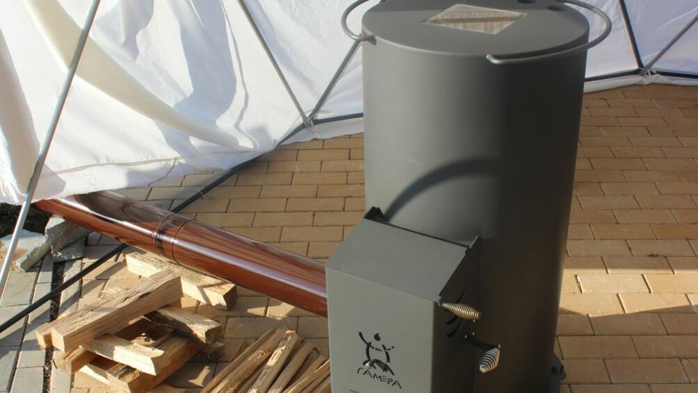 Бездимна печка за отопление на дърва, електромобили с форма на
