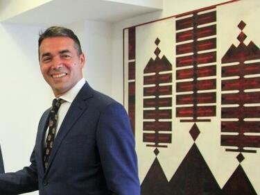 Първият дипломат на Скопие на посещение у нас