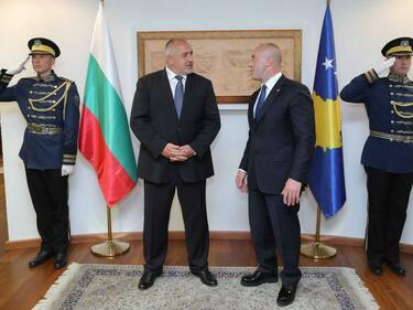 Борисов и Харадинай обсъдиха развитието на двустранните икономически връзки