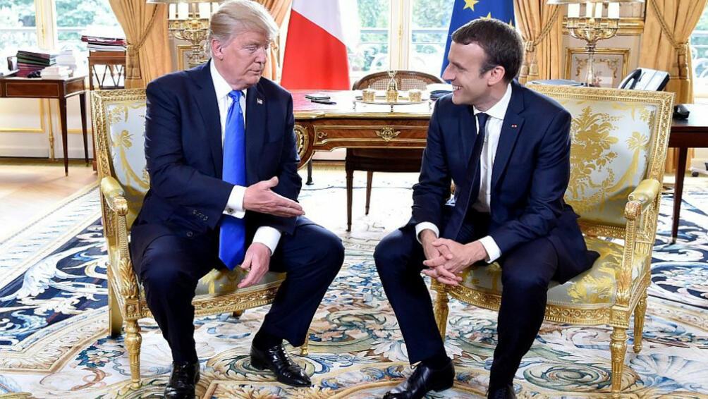 При посещението си в САЩ френският президентЕманюел Макрон ще подари