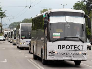 Хиляди камиони и автобуси задръстват София