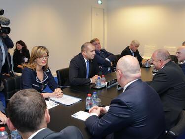Радев в Брюксел: НАТО не е борса за сигурност