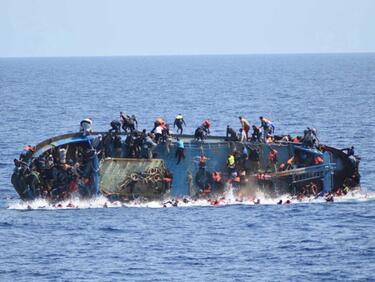За пета поредна година над 100 хил. мигранти в Европа през Средиземно море