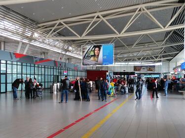 Летище София възстанови системата за полетна информация
