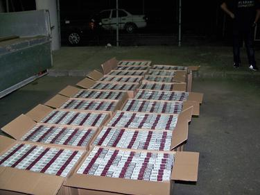 Хванаха голямо количество незаконни цигари край София