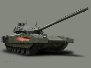 """Страховитият танк Т-14 """"Армата"""" влиза в серийно производство"""