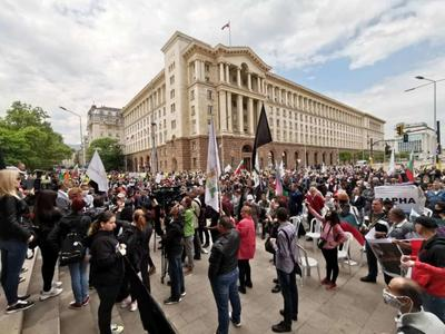 Антиправителствена демонстрация отново блокира Орлов мост