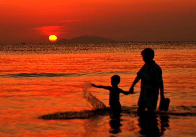 Encontre o pôr do sol mais romântico